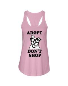 Adopt Pitbull Ladies Flowy Tank