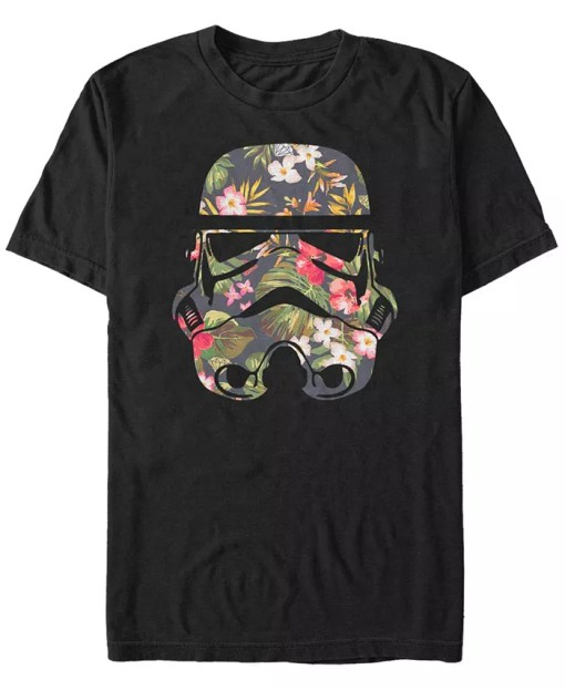 Star Wars Tropical Stormtrooper Floral Print Short Sleeve T-shirt
