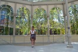 at the Palacio de Cristal (Crystal Palace) in Madrid's Buen Retiro Park