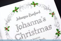 Krāsojamā grāmata pieaugušajiem Johanna's Christmas - titulbilde