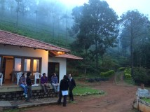 Discussions over tea and mist