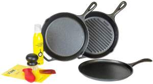 05 Lodge Cast Iron Gourmet Set