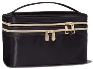 08 Sonia Kashuk Double Zip Train Case Makeup Bag - Black