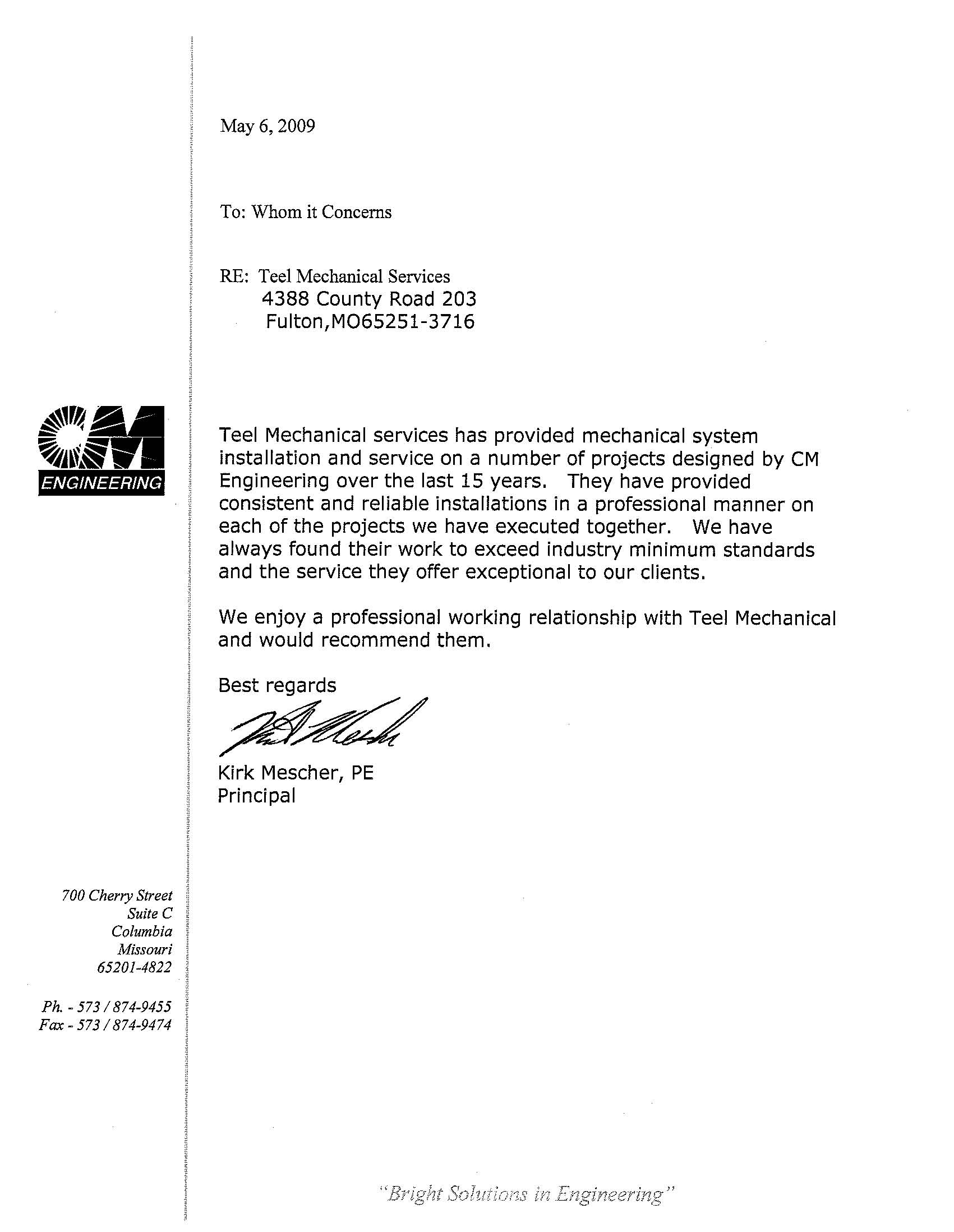 letter of recommendation for civil engineer - Seckin.ayodhya.co