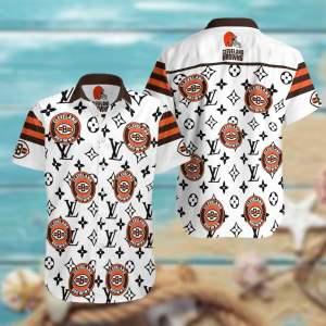 Cleveland Browns Summer Short Sleeve Hawaiian Beach Shirt