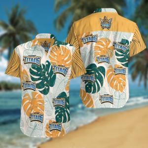 Gold Coast Titans Summer Short Sleeve Hawaiian Beach Shirt