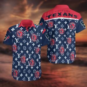 Houston Texans Summer Short Sleeve Hawaiian Beach Shirt