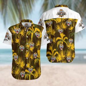 Wests Tigers Summer Short Sleeve Hawaiian Beach Shirt