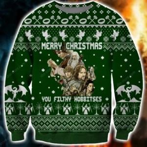 You Filthy Hobbitses Ugly Christmas Sweatshirt