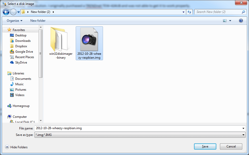 Windows Explorer Window