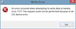 Write Error