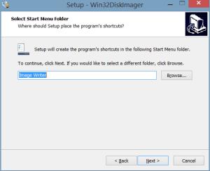 Select Start Menu Folder