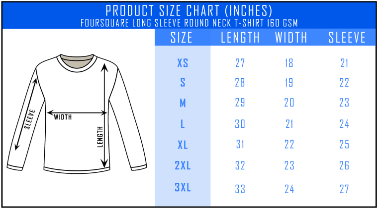 2c18471336c7ae Customizable Foursquare Long Sleeve Roundneck T-Shirt [Unisex ...