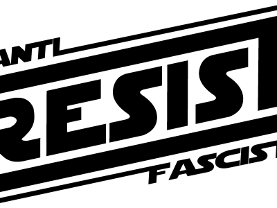 anti-fascist: resist decal