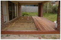 Wood deck over concrete patio | Deck design and Ideas