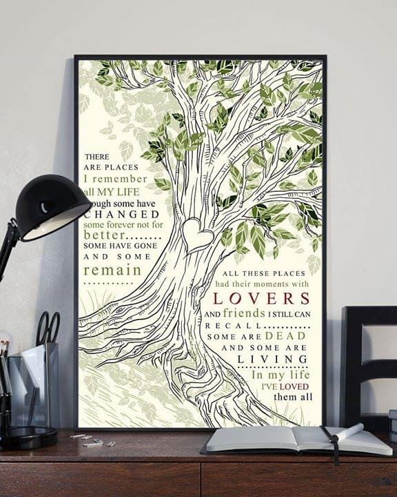 there are places i remember poster all