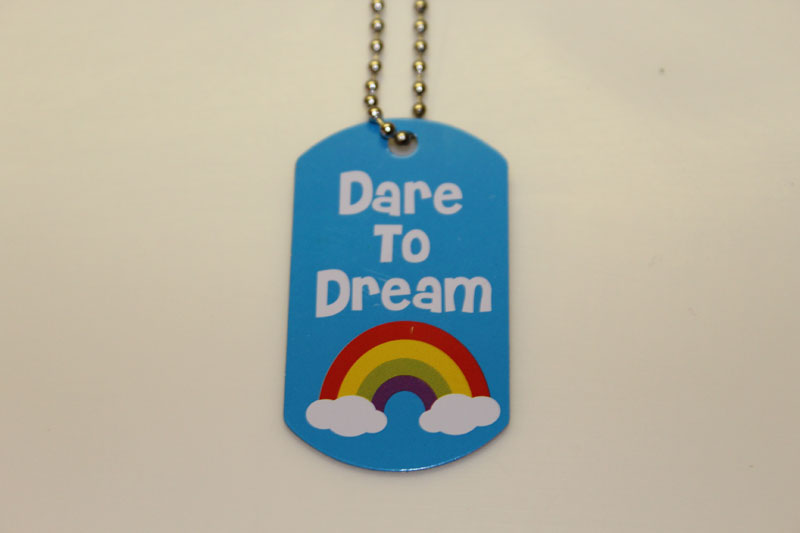 Dare To Dream Dog Tag Necklace