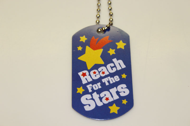 Reach For The Stars Dog Tag Necklace