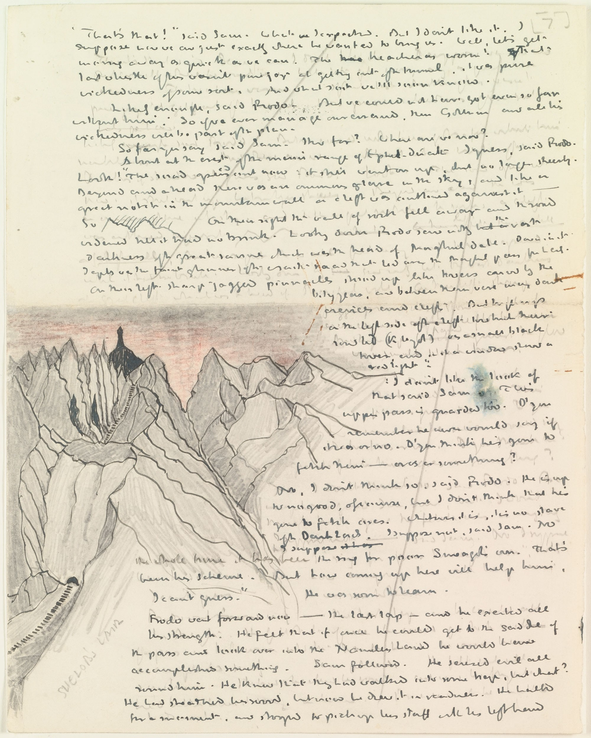 JRR Tolkiens original first page for Lord of the Rings