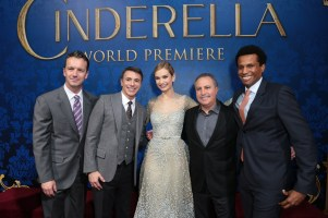 Sean Bailey, Ricky Strauss, Lily James, Alan Bergman, Tendo Nagenda