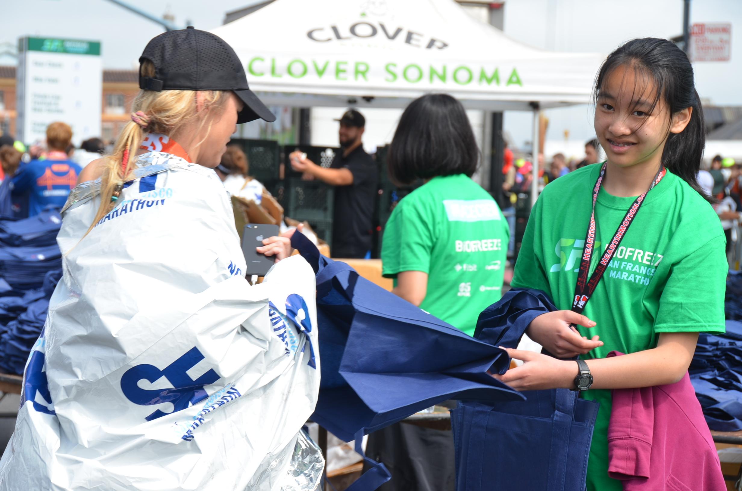 Community Service Organization: Volunteer at the Finish Line for SF Marathon on TeenLife
