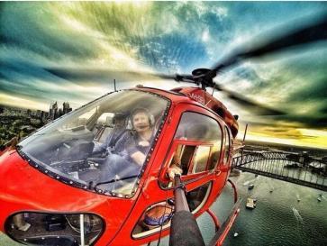 селфи с хеликоптер