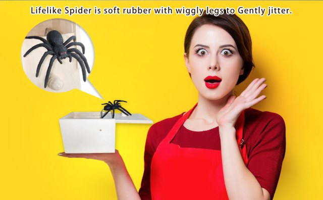 Scary spider gift