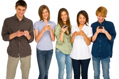 Amount of teens with cell phones