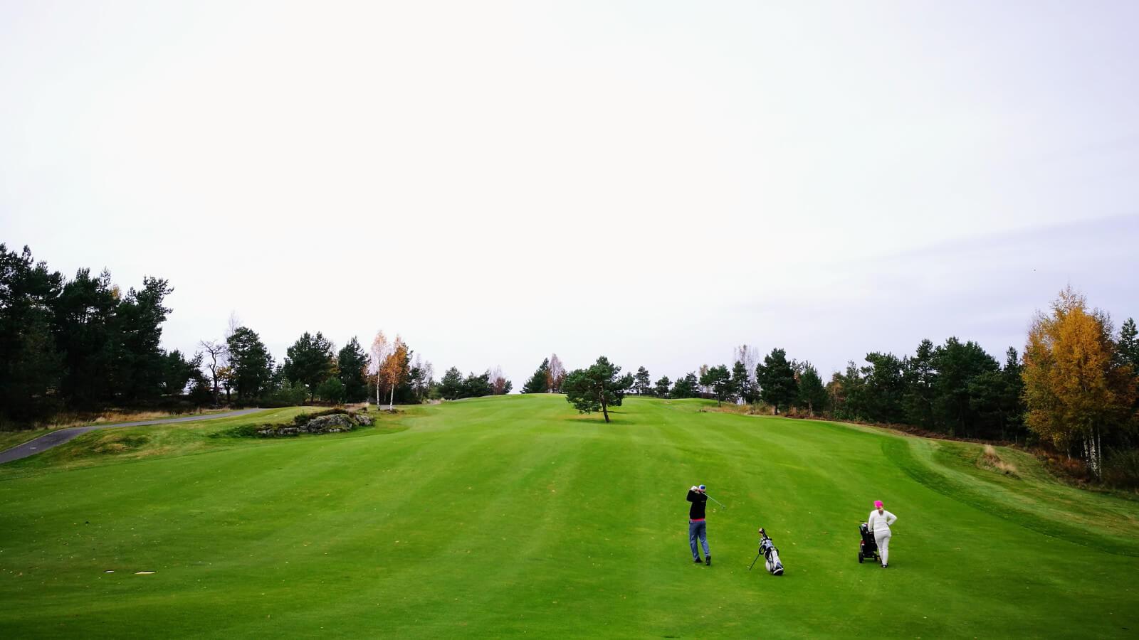 Innspillet på hull 9, Kragerø Golfklubb