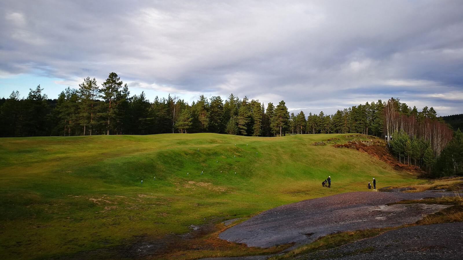 Dødens dal på hull 9, Kjekstad Golfklubb