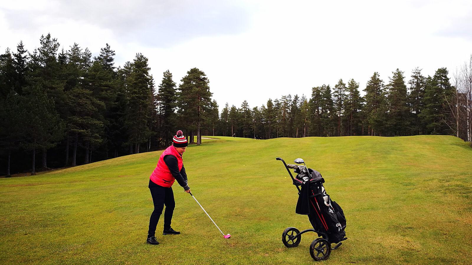 Innspill på hull 9, Kjekstad Golfklubb