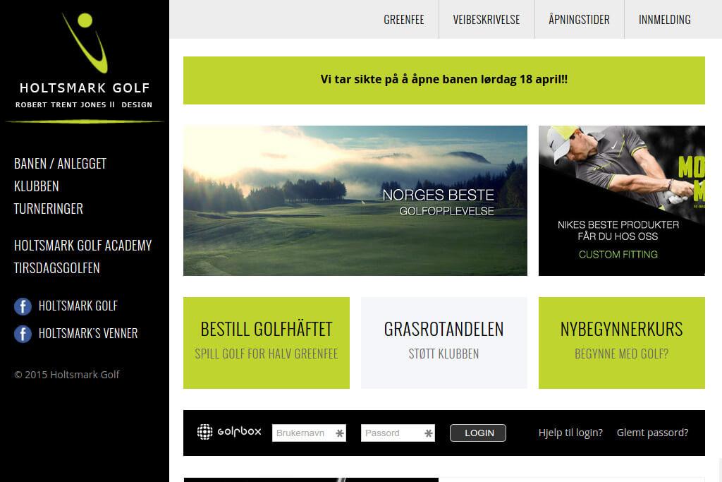 Hjemmesiden til Holtsmark Golfklubb
