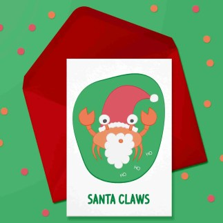 santa claws card