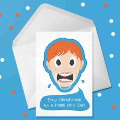 mouthful christmas card design