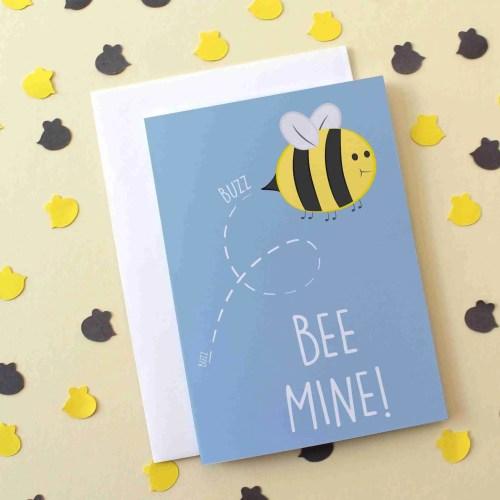 bee mine card new