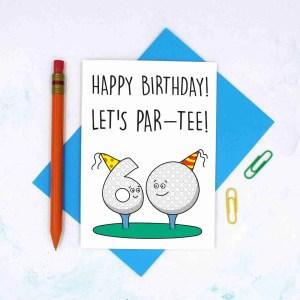 Funny Birthday Card, 60th Birthday Card, Card for Golf Lover, Lets Party Card, Pun Golf Card, TeePee Creations, Milestone Birthday, Card for Dad, Card for Grandad, Numbered Card, Confetti Card, Golfers Card, Male Birthday Card