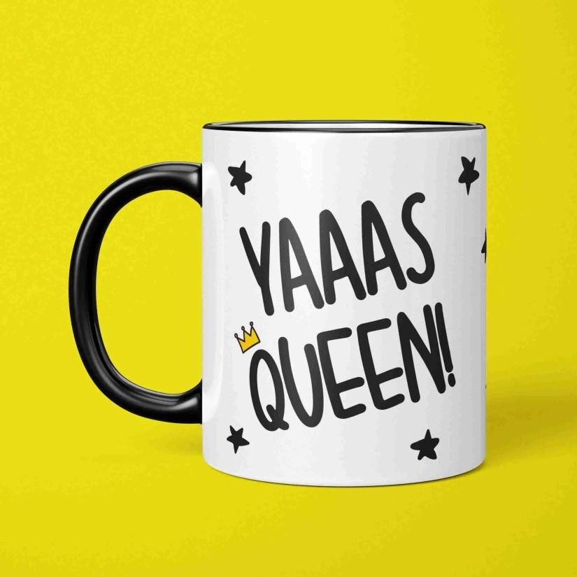 Graduation Gift, Funny Pun Mug, Present for Diva, Yas Queen Mug, Yaaas Queen Mug, TePe Creations, Funny Birthday Gift, Congratulations Gift, Gift for Girl, LGBT Pride Mug, RuPauls Drag Race, Positive Affirmation, Present for Friend