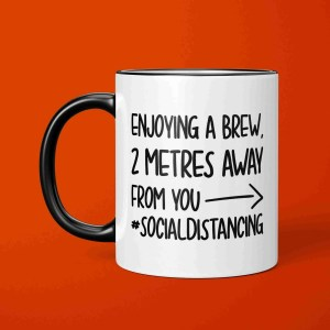 Social Distance Mug, Social Distancing, Stay Away, Introvert Mug, Funny Gift, Corona Virus, Pandemic Mug, Self Isolation, TeePee Creations, Cheeky Present, Enjoy a Brew, Coffee Joke Mug, Birthday Present, Work Gift, Office Present