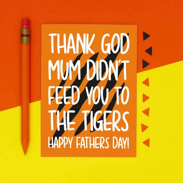 Fathers Day Card, Blame Carole Baskin, That Bitch Card, Joe Exotic Card, Tiger King Card, Funny Card, Confetti Card, TeePee Creations, Feed You To Tigers, Thank God Card, Card for Dad, Cheeky Card, Card for Stepdad