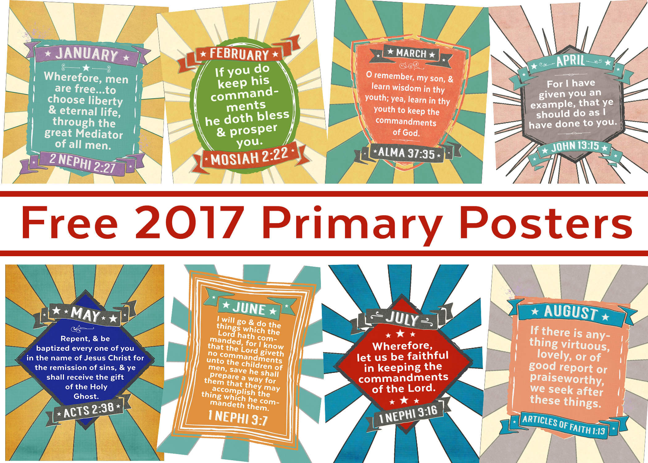 Free 2017 Primary Poster Printables