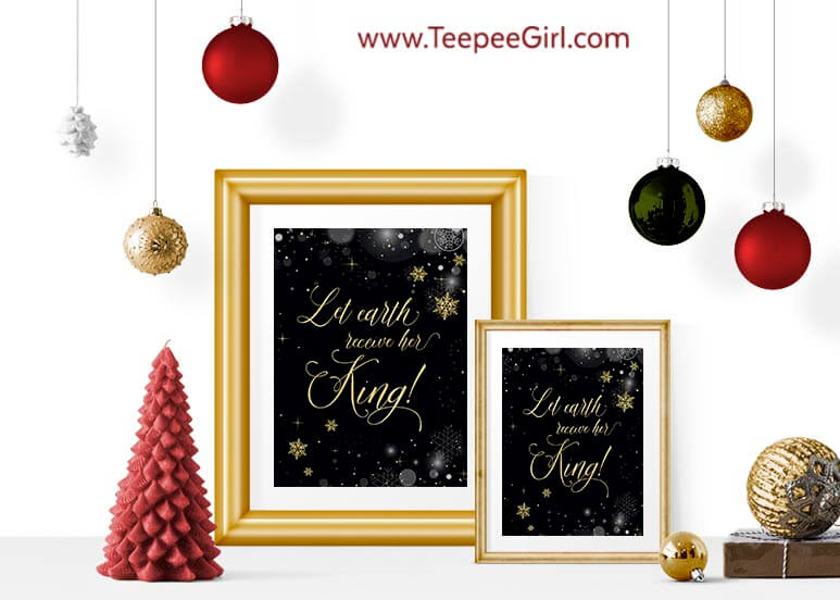 This free Christmas printable is the perfect addition to your Christmas decor. Paired with an inexpensive frame, it also makes a great gift for friends and neighbors! It comes in two sizes (8x10 & 5x7). Get yours today at www.TeepeeGirl.com!