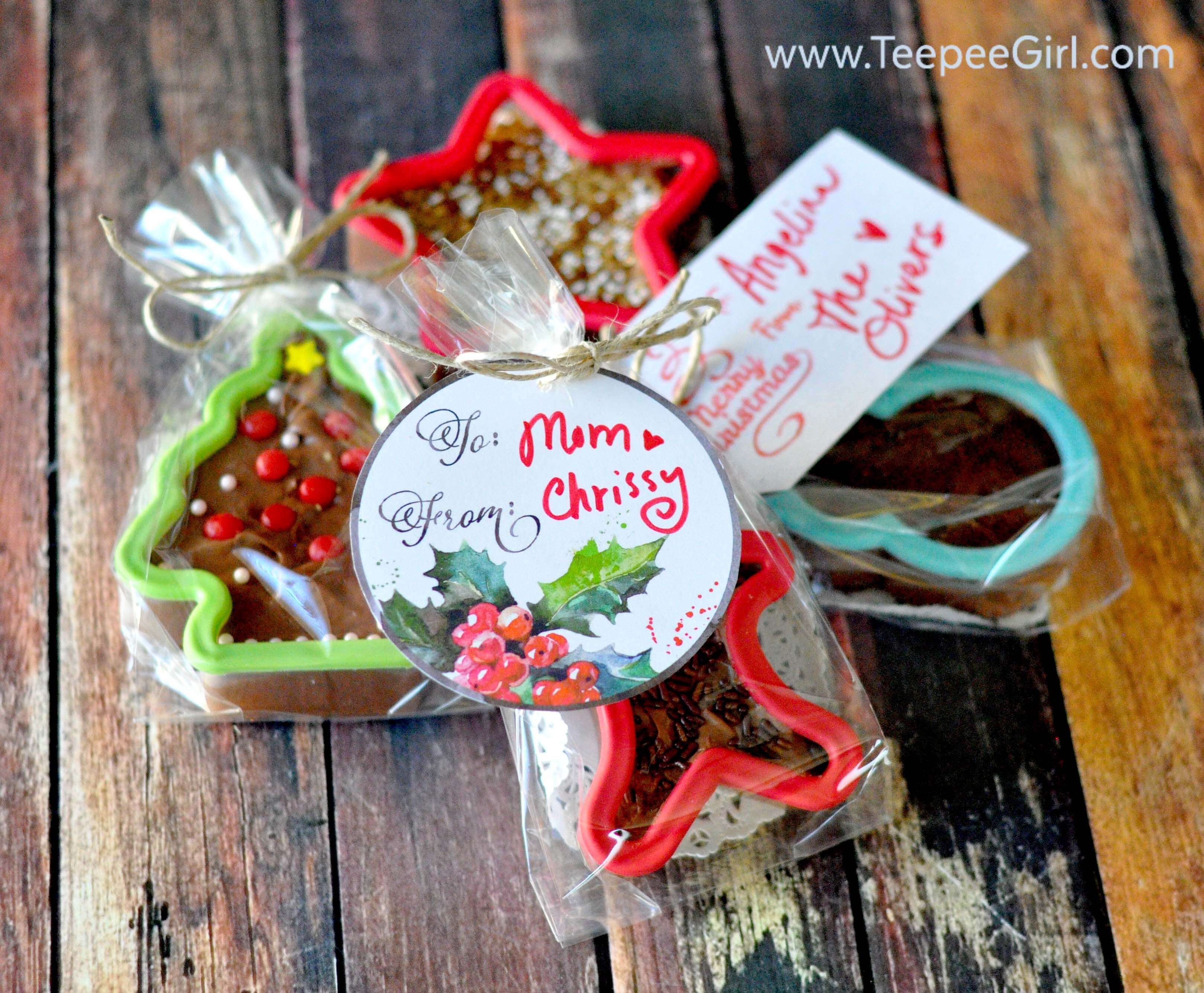 Cookie Cutter Fudge Gift (+ Free Tags)
