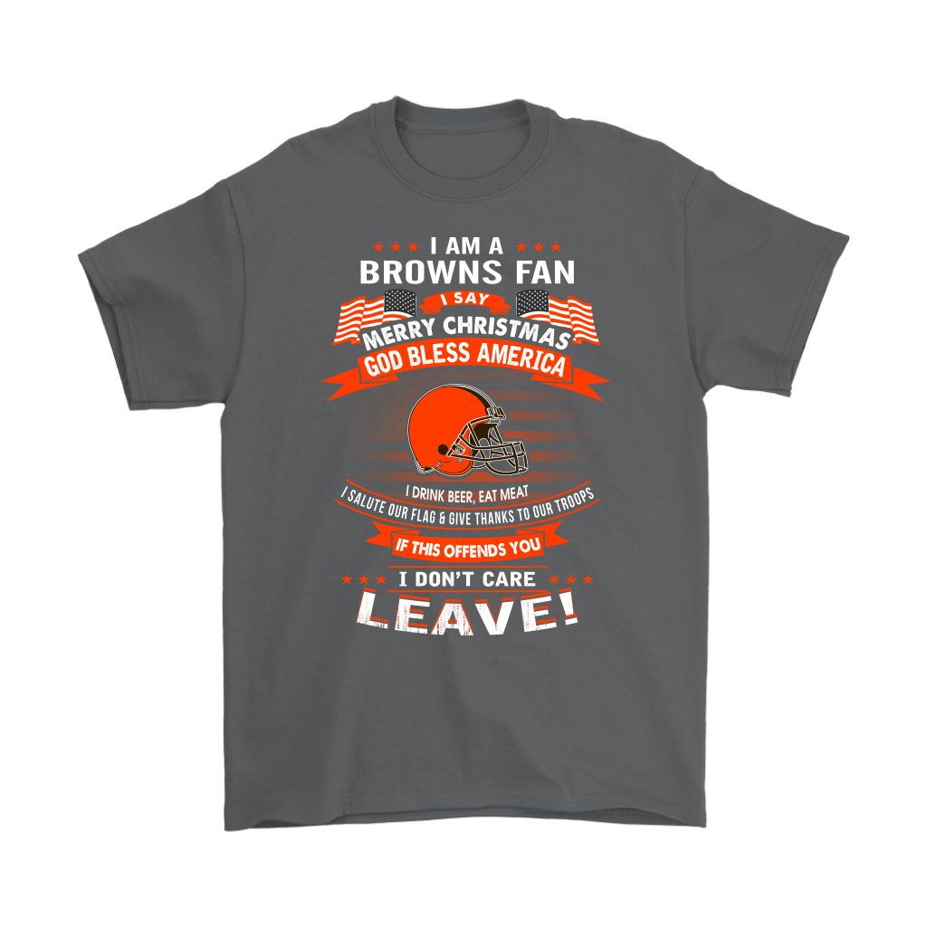 A Cleveland Browns Fan Merry Christmas God Bless America Shirts 2