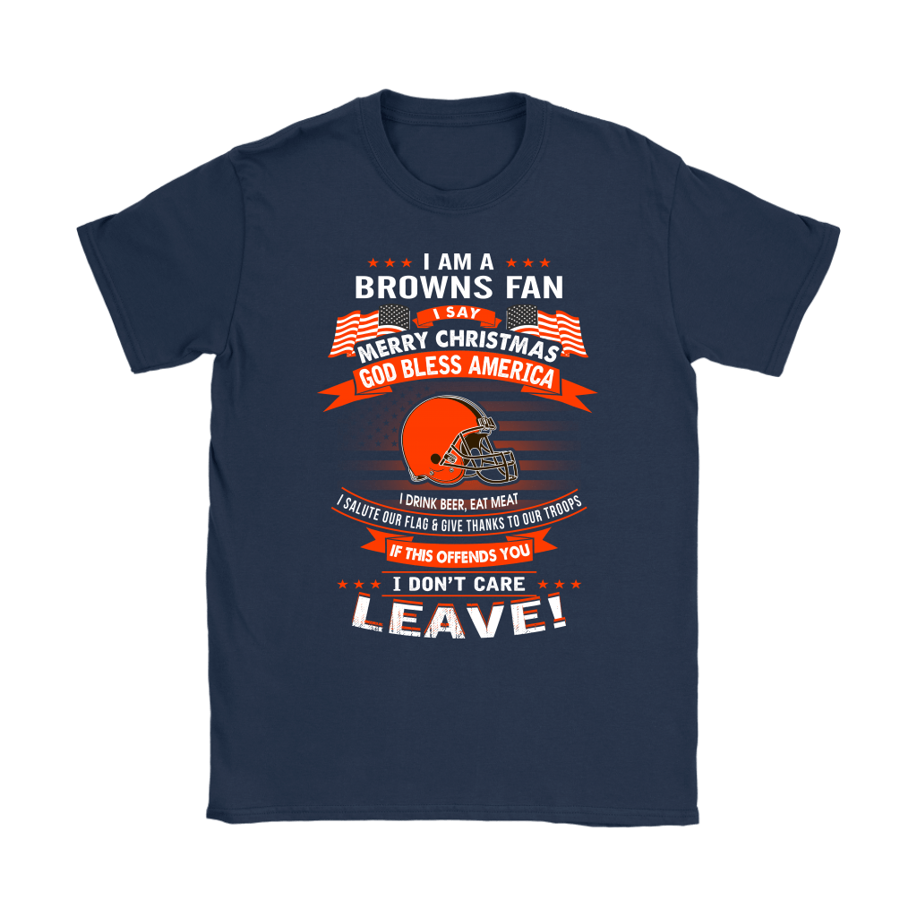 A Cleveland Browns Fan Merry Christmas God Bless America Shirts 9