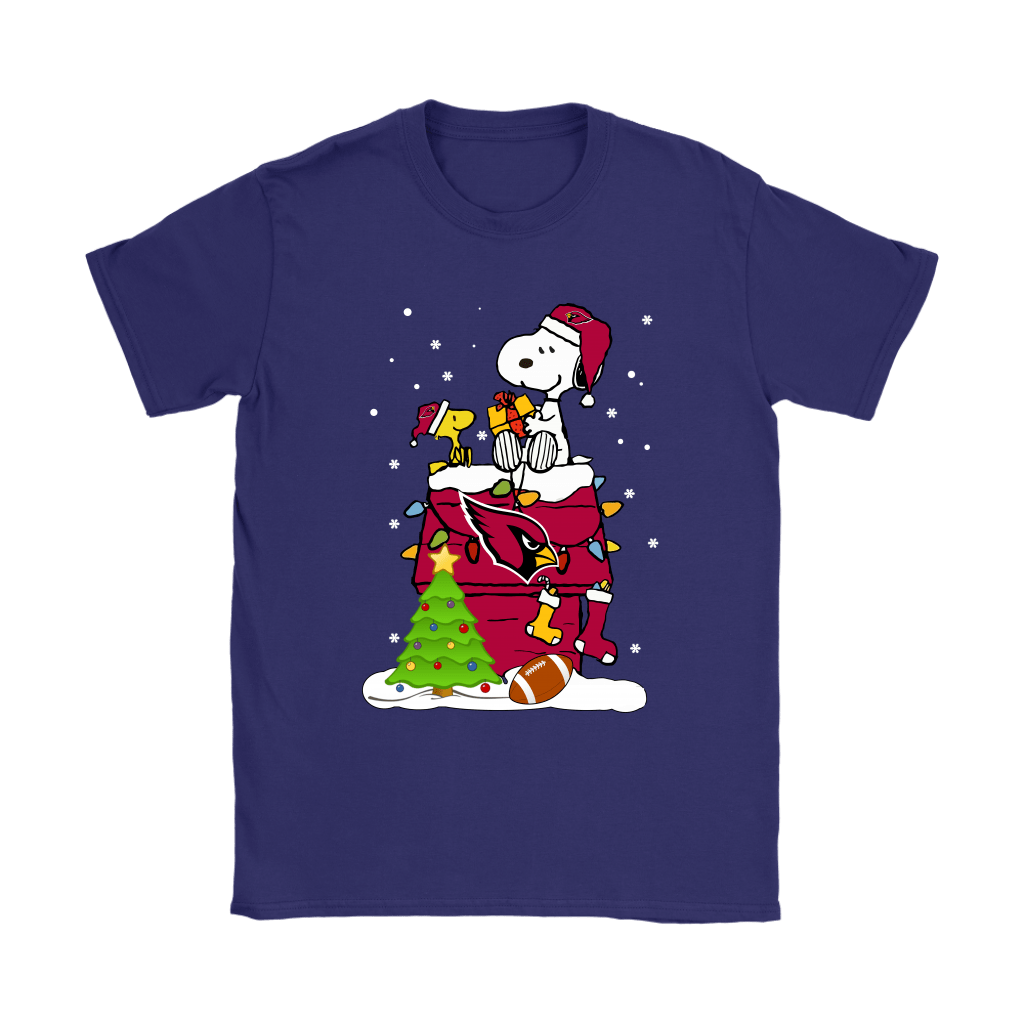 A Happy Christmas With Arizona Cardinals Snoopy Shirts 10