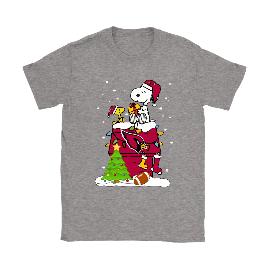 A Happy Christmas With Arizona Cardinals Snoopy Shirts 12