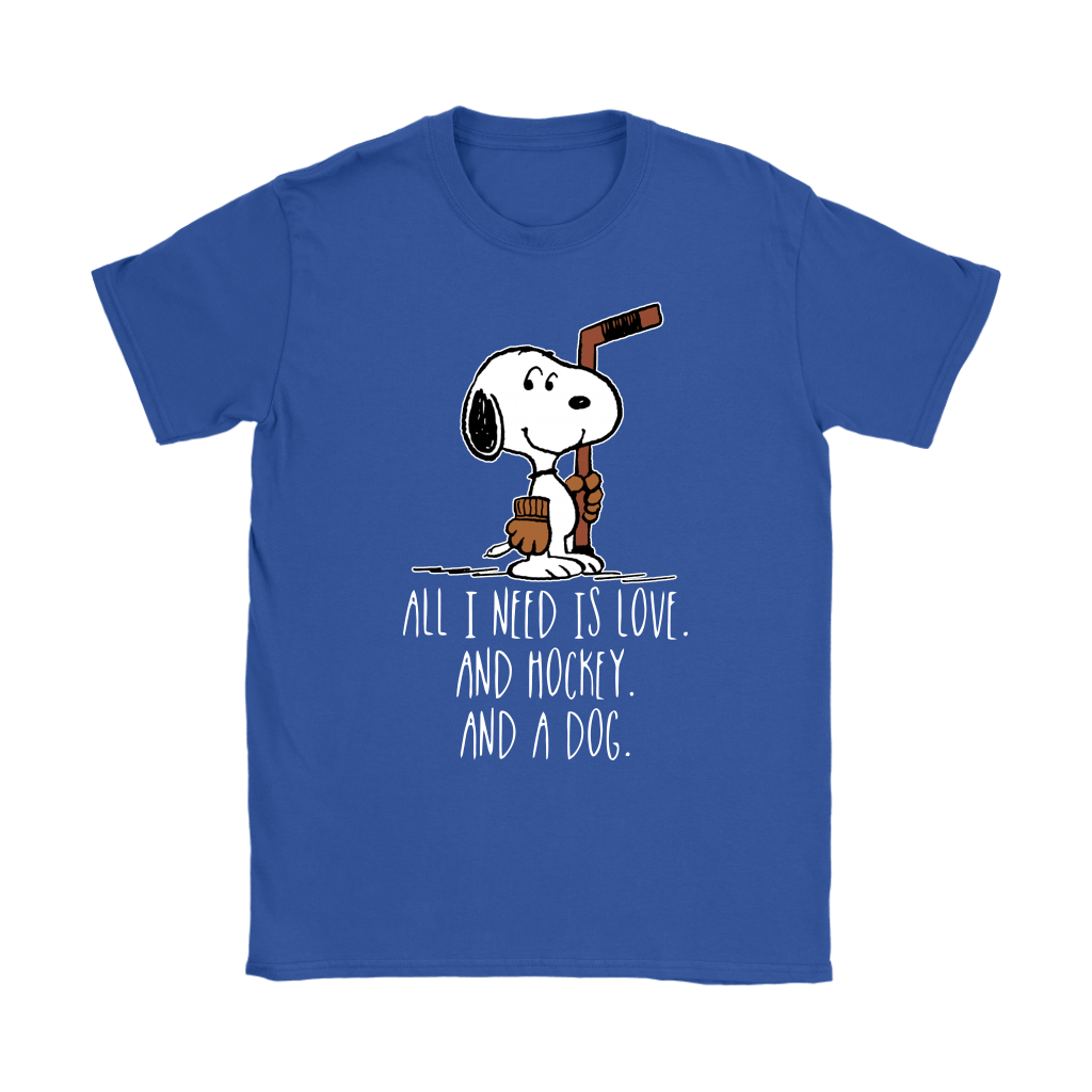 All I Need Is Love And Hockey And A Dog Snoopy Shirts 13