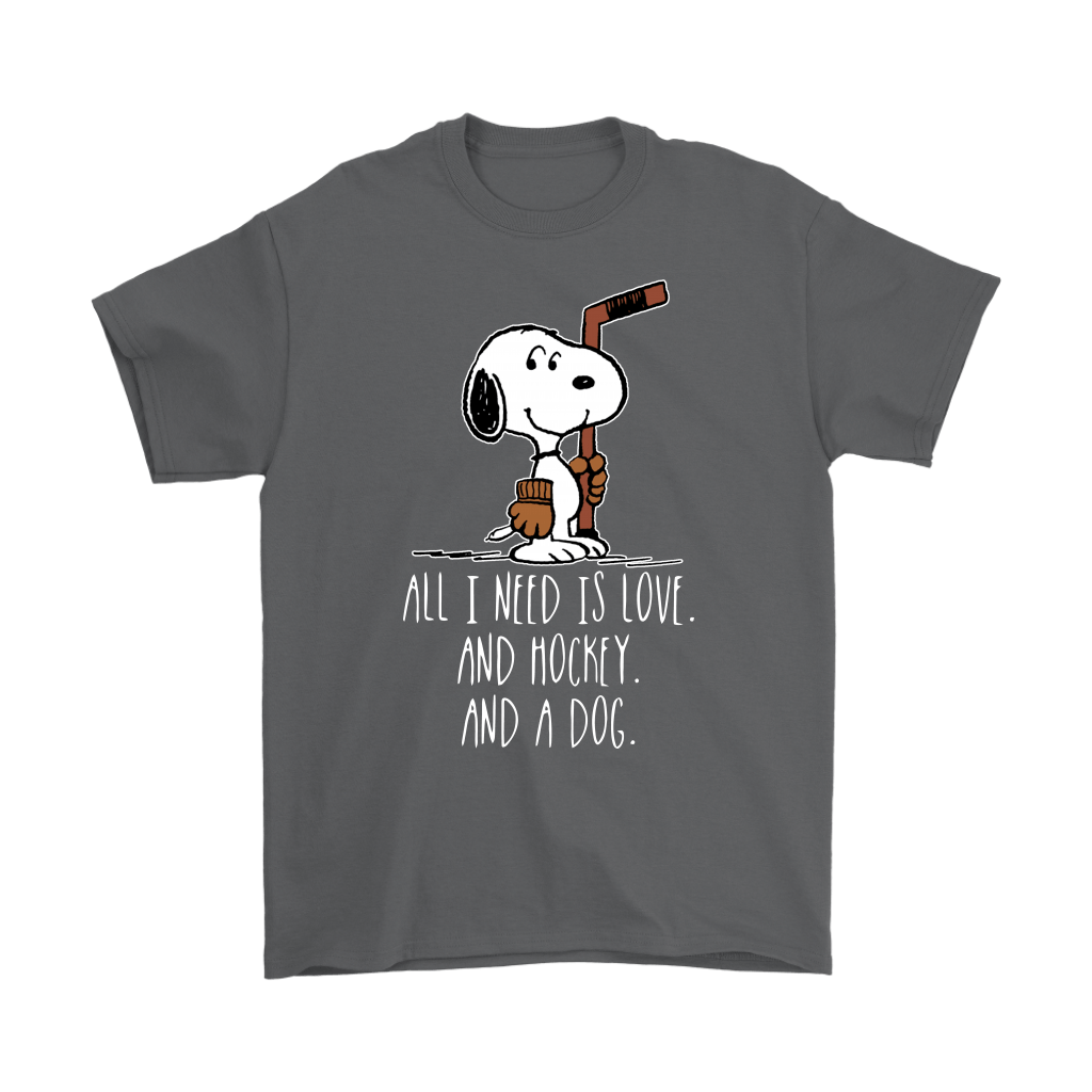 All I Need Is Love And Hockey And A Dog Snoopy Shirts 2
