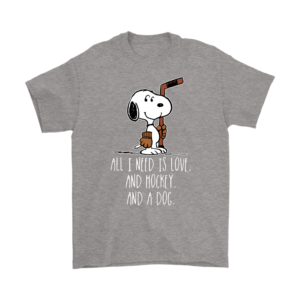All I Need Is Love And Hockey And A Dog Snoopy Shirts 7
