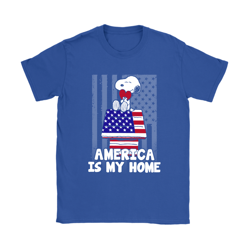 America Is My Home Independence Day 4th Of July Snoopy Shirts 11